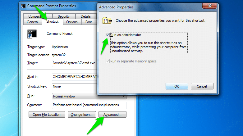 Open command prompt in administrator mode - great command prompt trick for Windows
