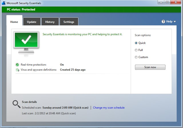 Microsoft Security Essentials - Built-in Best Malware Removal Tool in Windows