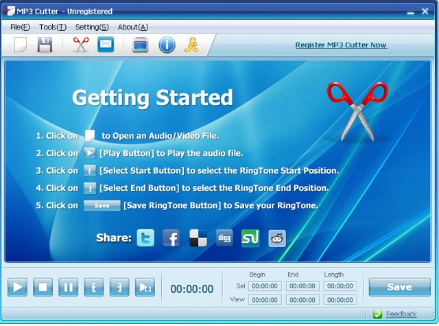 Mp3 Cutter: Best audio editor software for cutting MP3 - free audio editor and Mp3 cutter