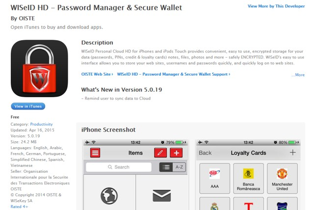 WISeID HD: Encrypt iPhone data and get best iPhone password manager