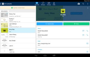 camcard best free business card scanning app for android with sync contacts option