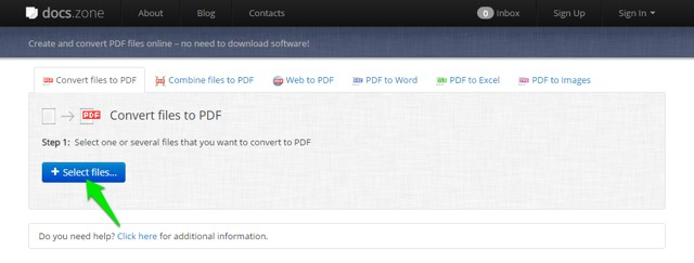 Docs.zone - Convert any Docs File to PDF Format for Free Online