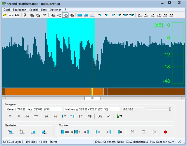 mp3directcut: light audio editor - free mp3 cutter to get audio from any video file