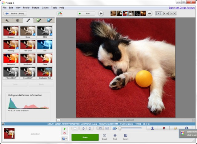 picasa: Edit and organize photos in Mac - Best Free Photo Editing Software for Mac