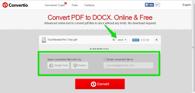 Save File Location - Convert PDF to Docx Online for Free