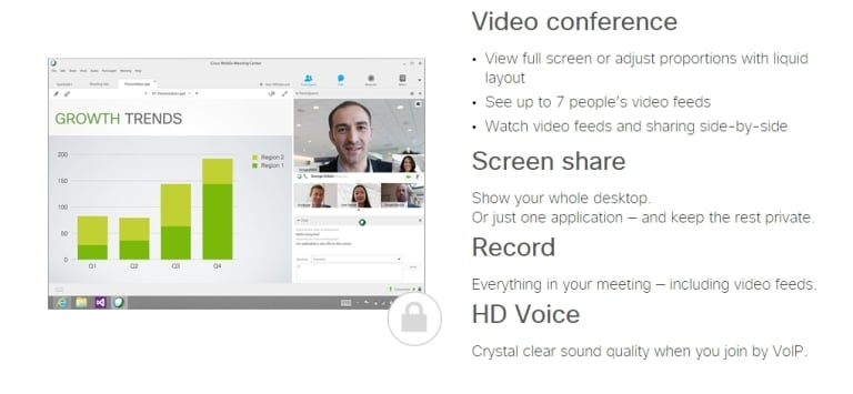 Cisco WebEx Web Conferencing and Meeting Tool for Business - Best Online Meeting Tools
