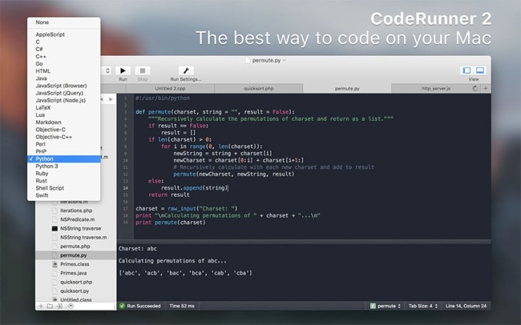 CodeRunner 2 Paid Mac Text Editor IDE Level Editing Best Text Editor for Mac - Best Mac Text Editor - Paid and Free Text Editor for Mac