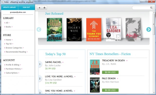 Kobo - Best ePub Reader for Windows - Free ePub Reader for Windows