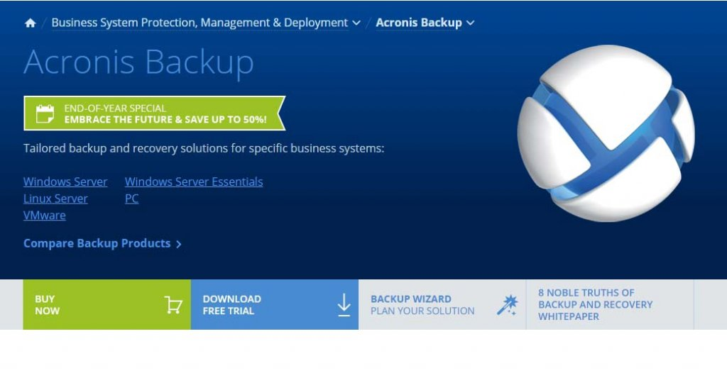 Acronis Backup best data backup software - Best Data Backup Software for Linux, VMWare, Windows PC