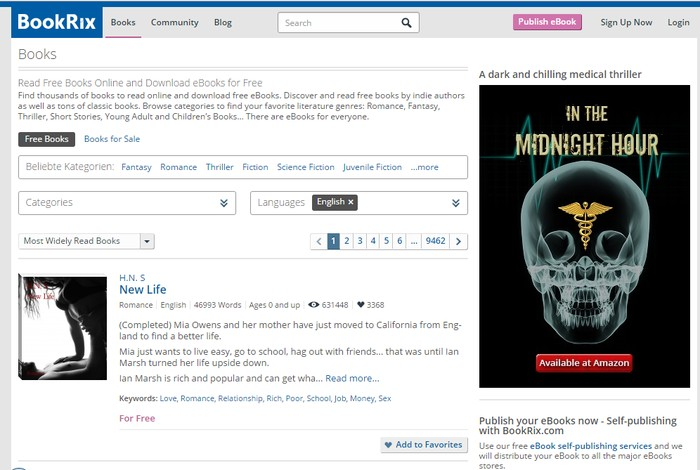 Bookrix - Best Sites for Free Online Audio Books Downloads - Listen to Free Online Audio Books