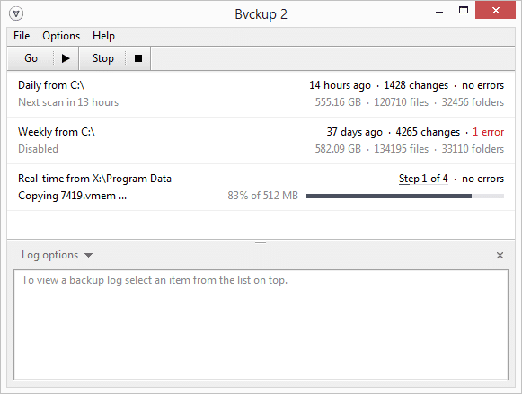Bvckup 2 best data backup software for Windows - Free Data Backup Software for Windows