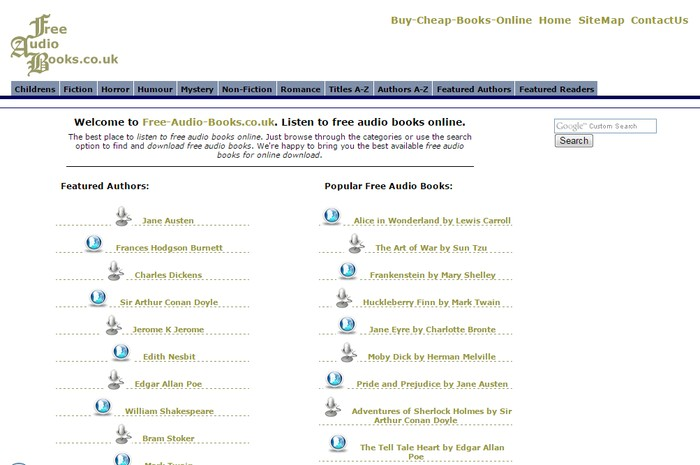 Free-Audio-Books.co.uk - Best Sites to Download Free Audio Books Online - Listen to Free Streaming Audio Books Online