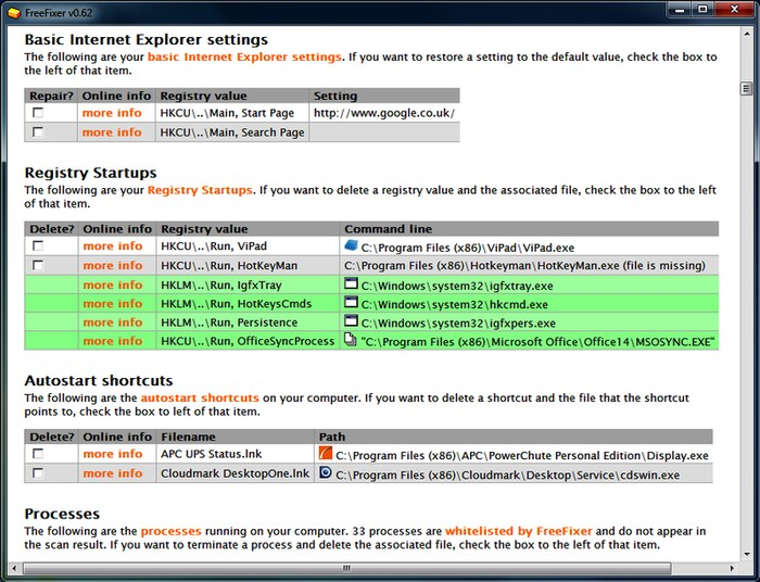 FreeFixer - Best Free Adware Removal Tools for Windows - Free Adware Removal Tool