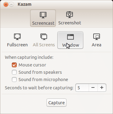 Kazam best Linux screen recorder - best screen recorder for Linux - Linux screen capturing tools