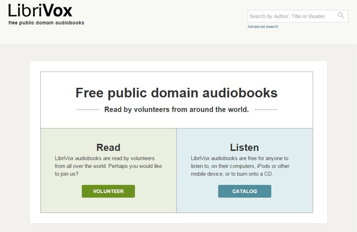 LibriVox - Best Sites to Download Free Audio Books Online - Listen to Books Online for Free