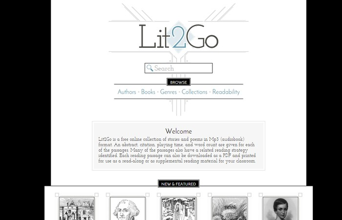 Lit2Go - Free Online Audio Books Download Sites to Download Free Streaming Audio Books Online