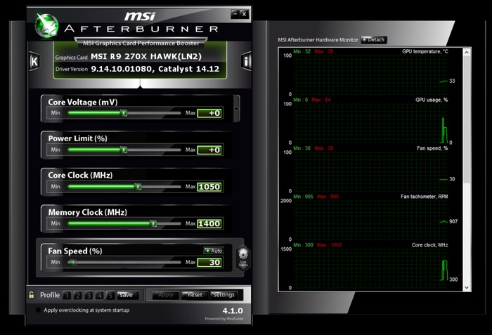 MSI Afterburner- GPU overclocking software for Nvidia - best GPU and CPU overclocking software