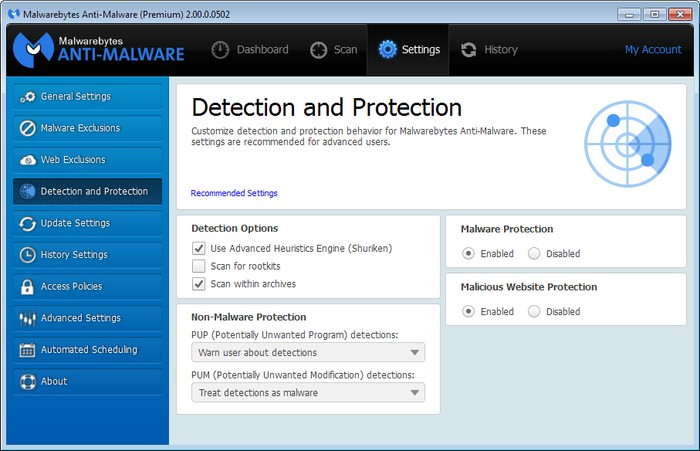 Malwarebytes Anti-malware - Best Adware Remover for Windows - Free Adware Removal Tool