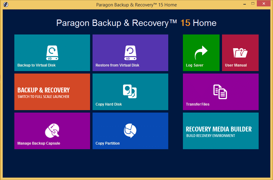 Paragon Backup Professional Data Backup Software - Best Data Backup Software for Windows