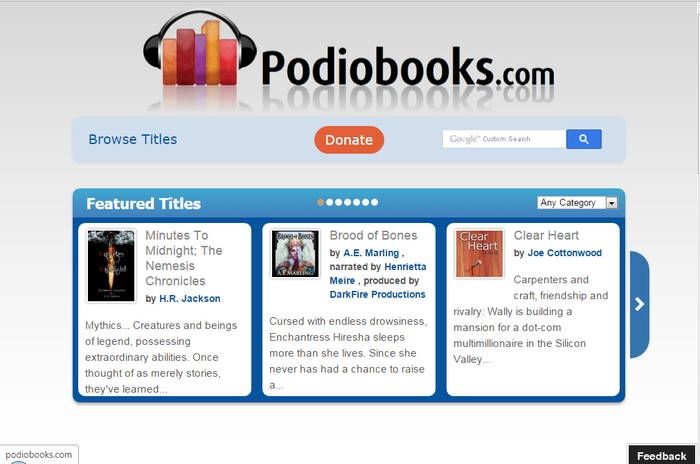 Podiobooks - Best Online Audio Books Download Sites to Download Free Streaming Audio Books Online