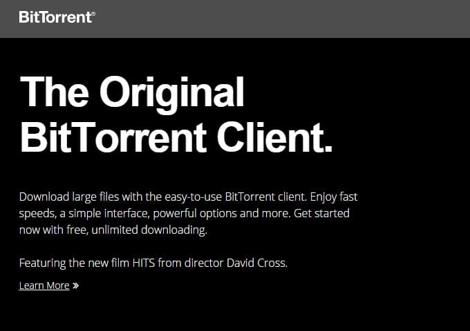 BitTorrent - Best uTorrent Alternative for Windows PC - Best uTorrent Alternative for Mac OS X