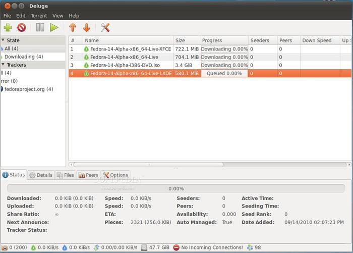 Deluge - Best File Sharing Software for Peer to File File Sharing - Free File Sharing Software
