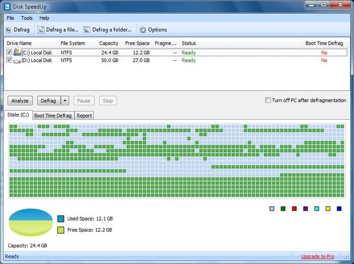 Disk SpeedUp - Best Free Defrag Software -Best Free Disk Defragmenter - Best Defrag Program