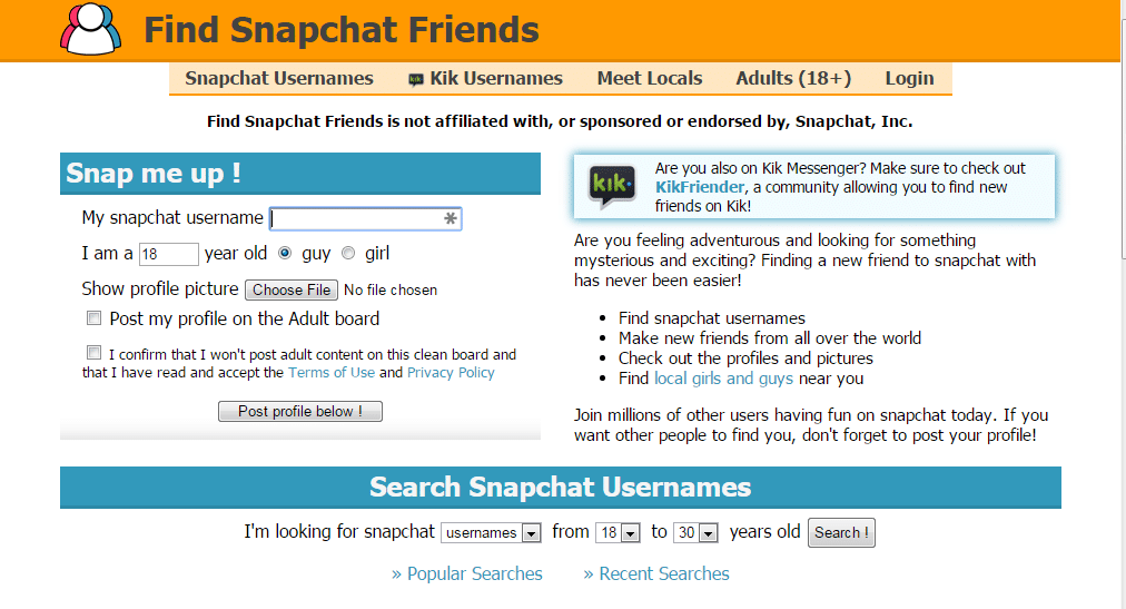 Find Snapchat Friends- Find snapchat friends online - Snapchat Friends Finder Tool to Find Snapchat Friends Online