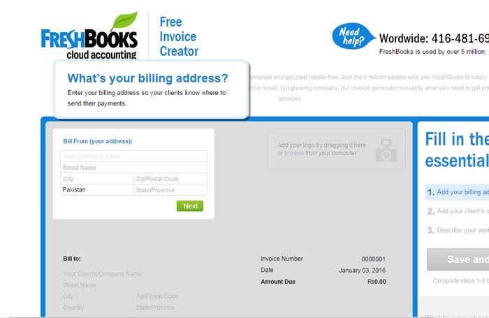 FreshBooks Free Invoice Creator - Best Online Invoice Creator to Create Invoice Online for Free
