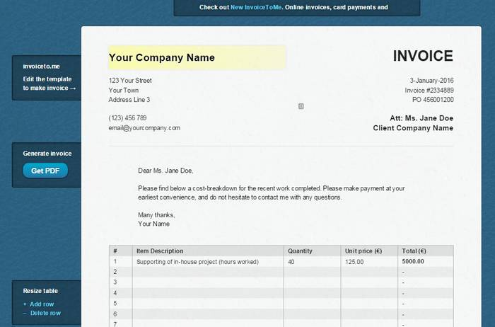 InvoiceToMe   Best Invoice Creator Online To Create Template Based Invoice  Online For Free  Online Invoices Free
