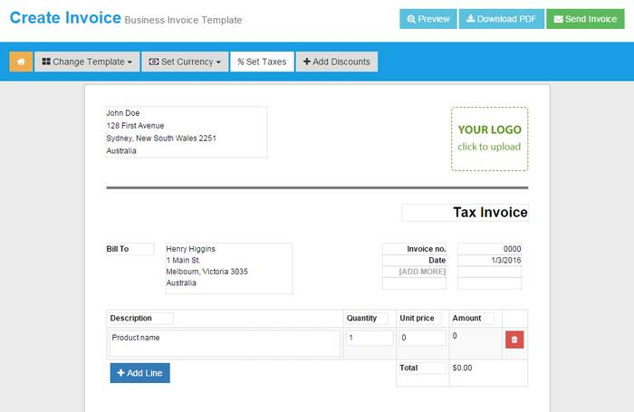 9 best online invoice creator to generate free invoice online, Invoice templates