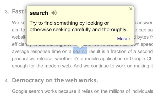 Google Dictionary - Find words meaning online - dictionary extension for chrome - Best Chrome Extensions for Productivity
