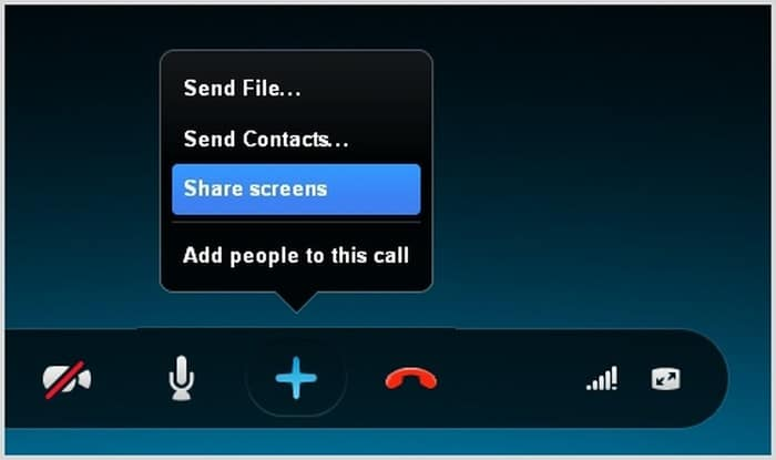 Skype - Share screen in call - share screen software - top screen sharing software