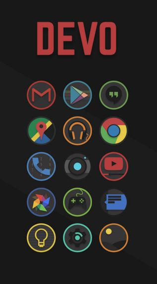 devo icon pack - best icon packs for android - What are the Best Android Icon Packs? - Top 10 Best Paid Icon Packs for Android