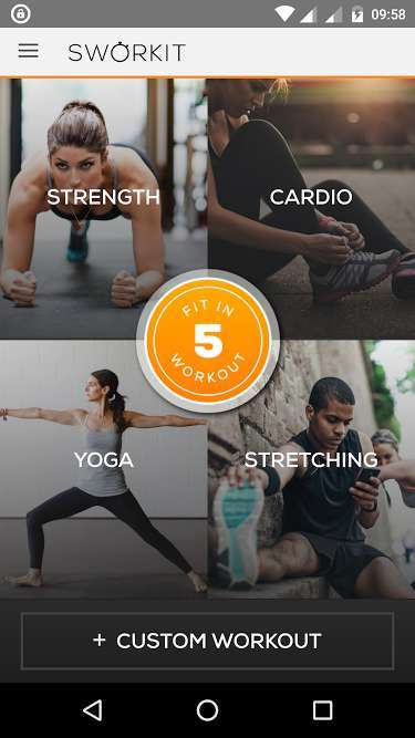 Sworkit - Best Android Fitness Apps - Top 7 Best Fitness Apps for Android to Keep Track of Your Health and Fitness