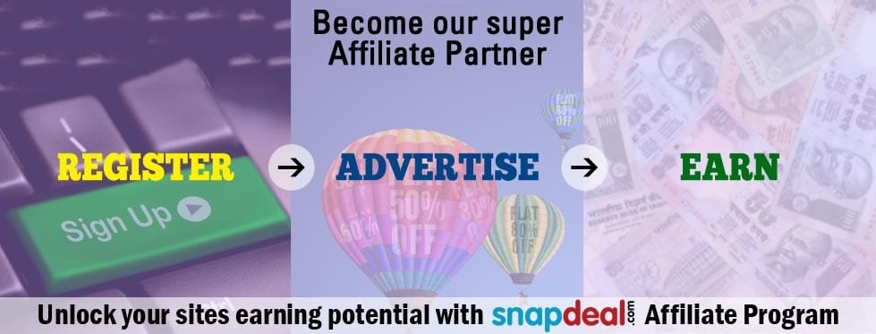 Snapdeal Affiliate Program - Best and High Paying Affiliate Program for Indian Bloggers