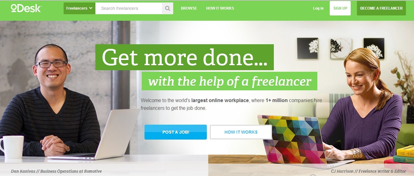 oDesk is most loving place for job seekers
