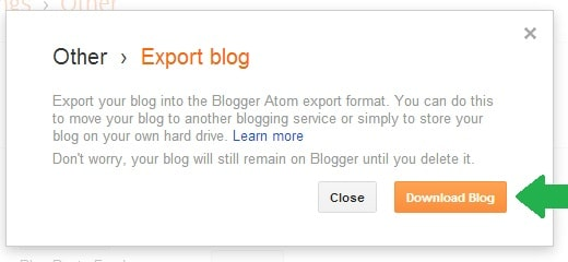 Taking Backup of Your Blogger Blog