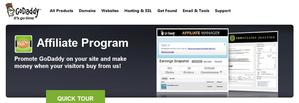 GoDaddy - Top 5 Affiliate Program for Blogging Niche Blogs