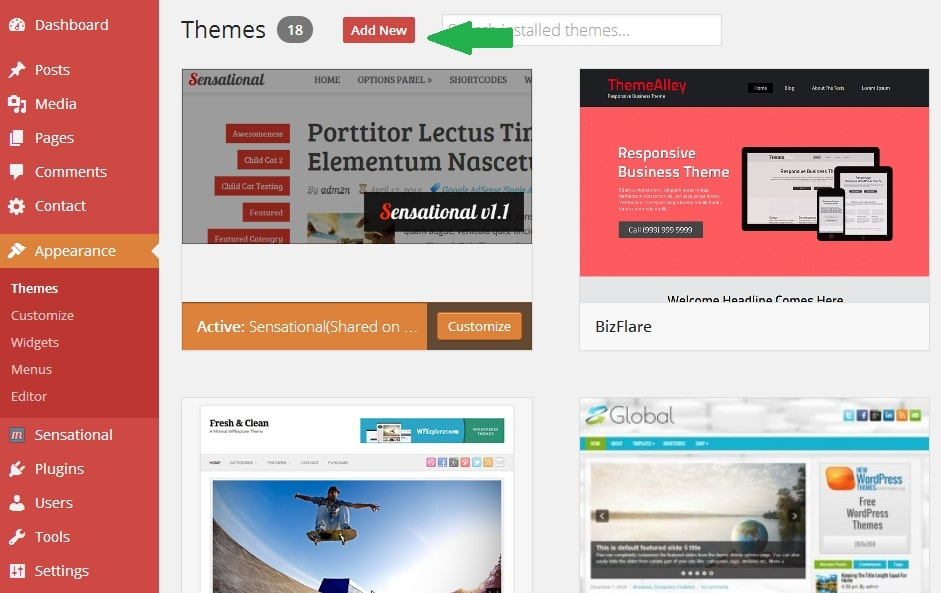 Adding a New WordPress Theme to WP Dashboard