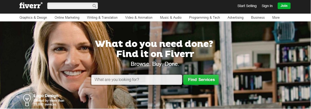 Fiverr - Earn $5 for Every Service