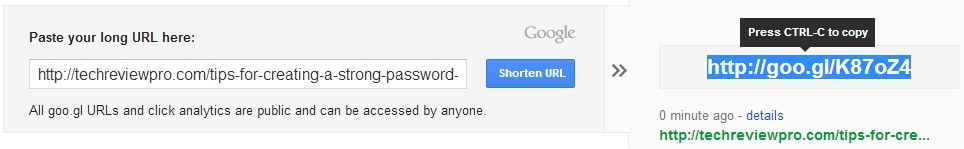 Google URL Shortener - Best URL Shortener to Shorten URLs
