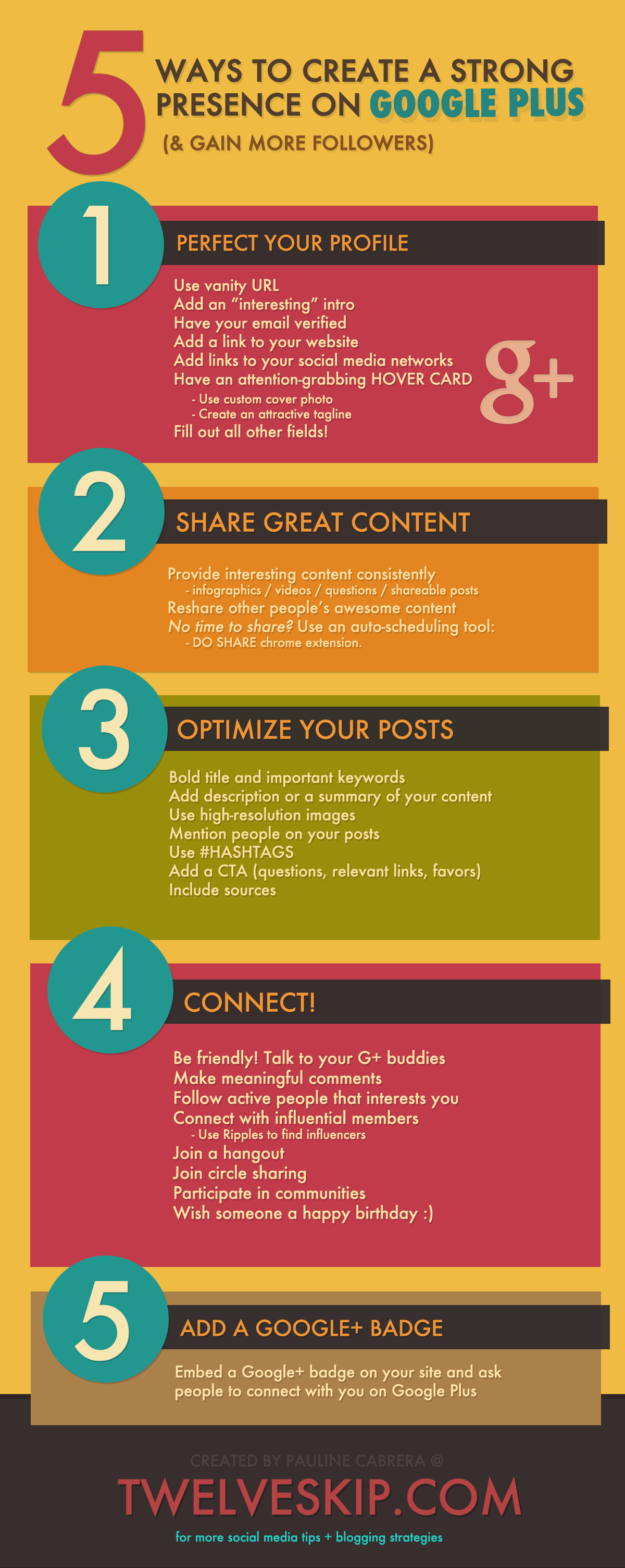 Ways to Create Strong Presence on Google Plus to Grow Followers