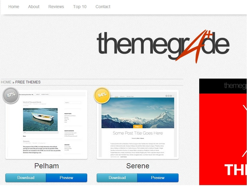 Download Top Quality WordPress Themes For Free