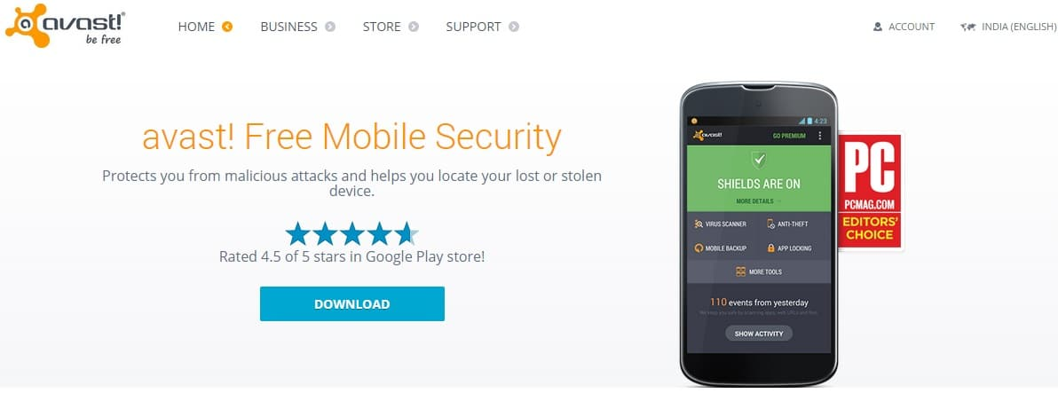 avast - Best Free Mobile Security Apps