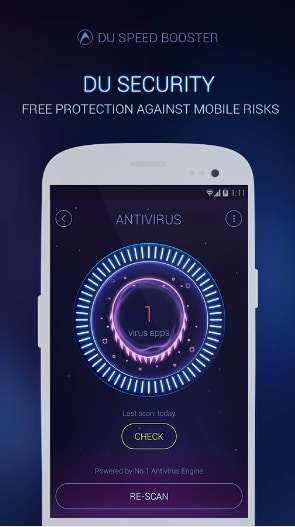 Boost Smartphone Speed by DU Speed Booster Antivirus