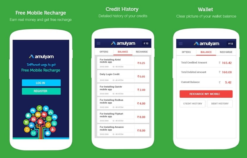 Amulyam - Best Android Apps to Get Free Mobile Recharges