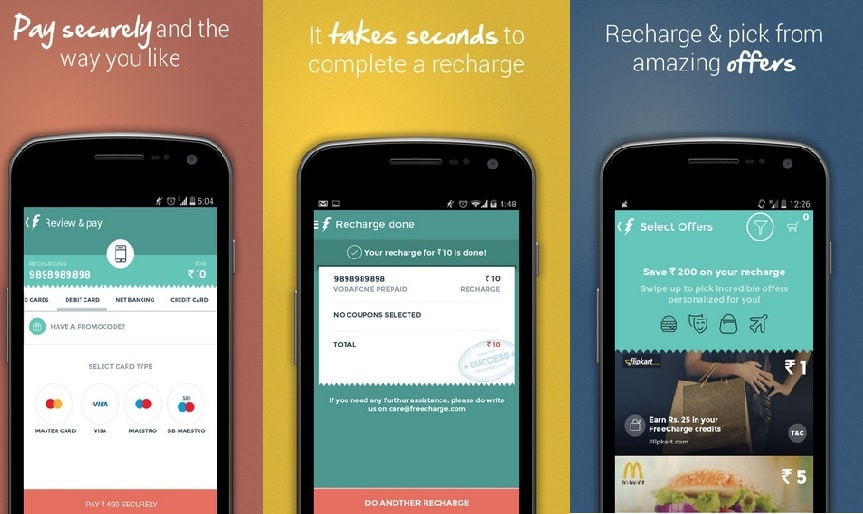 FreeCharge - Best Free Android Apps to Win Free Mobile Recharges