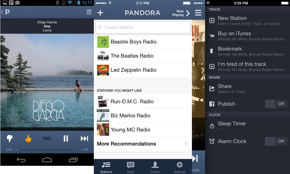Pandora - Best Music Streaming App for Android and iOS Power Users to Stream Music Online