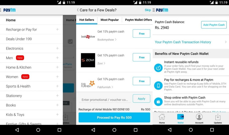Paytm - Best Android Apps to Get Free Mobile Recharge
